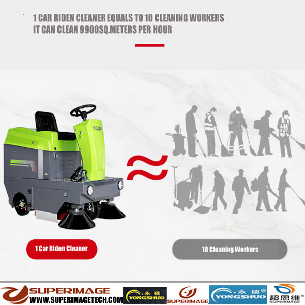 1100mm Battery-Chargeable Car Riden Automatic Vacuum Cleaner